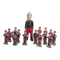 Vintage Set of Papier Mache Toy Soldiers