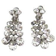 Pair of Vintage Rhinestone Chandelier Earrings
