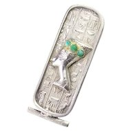 Antique Egyptian Revival Silver Brooch