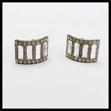 Vintage Pair of Paste Shoe Buckles