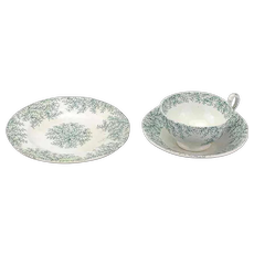 19th Century Child's Cup, Saucer and Plate Trio