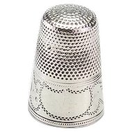 Vintage Small Silver Thimble