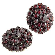 Beautiful Pair of Antique Genuine Garnet Studs/Cufflinks