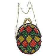 Vintage Beaded Doll Purse