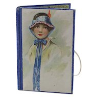Vintage Paper Needle Case with Picture of Lady