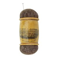Vintage Mauchline Ware Two Ended Pin Cushion
