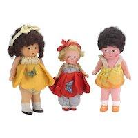 Vintage Chalkware Doll Sisters