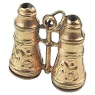 Vintage Gilded Binoculars Doll Accessory