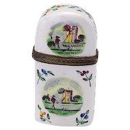 Bilston Enamel Perfume Etui Circa 1790