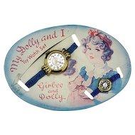 Vintage Dolly Watch On Original Card