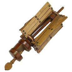 19th Century Wooden Sewing Swift or Yarn  Winder