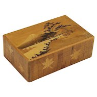 Vintage Japanese Inlaid Puzzle Box