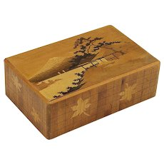 Vintage Japanese Inlaid Puzzle Box