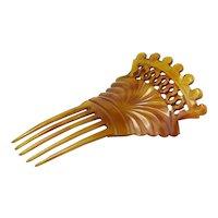 Vintage Celluloid Hair Comb