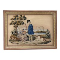 Lovely 19th Century Marine Needlepoint