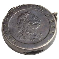 Antique Vesta Case Matchsafe George III 1797