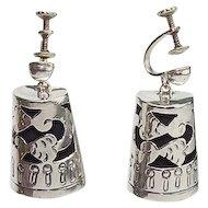 Vintage Sterling Mexican Earrings