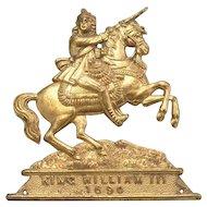 Antique Medallion of King William 111 1690