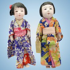 Lovely Pair of Japanese Ichimatsu Dolls