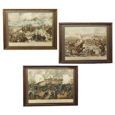Three 19th Century German Military Prints