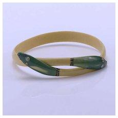 Vintage Celluloid Snake Bracelet