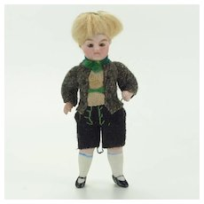 Antique All Bisque Boy Doll