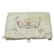 Vintage Silk Hanky Container Souvenir From France