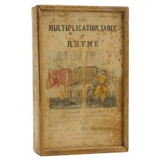 Early 19th Century Boxed Multiplication Matching Paper Game
