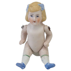 Sweet Antique All Bisque Small Doll