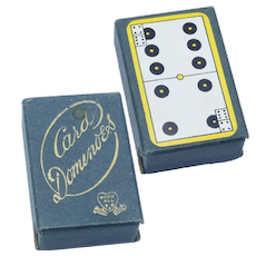 Vintage Set of Miniature Domino Cards Doll Accessory