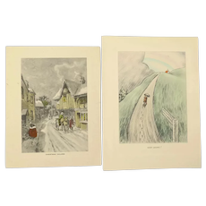 Two Vintage Raphael Tuck Greeting Cards