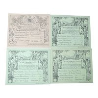 Royal Drawing Society Certificates 1911-1914