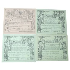 Royal Drawing Society Certificates 1911-1914