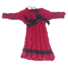Antique Hand Knitted Woolen Doll Dress