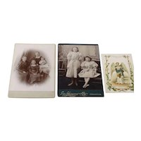 Two 19th Century Studio Cards and a Church Card