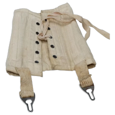 Antique Doll Corset with Suspenders