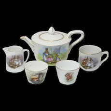Five Vintage Beatrix Potter Dishes