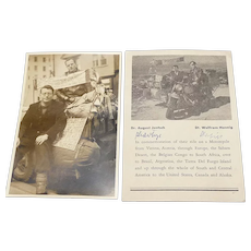 Two Vintage Historical Motorcycle Ride Photos