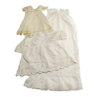 Three Pieces of As Is Vintage Doll Clothing
