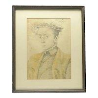 Vintage Framed Print of Tudor Lady