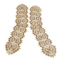 Pair of Vintage Sequined Dress Fronts