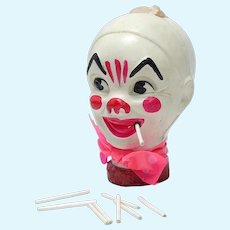 Vintage Celluloid Clown Head Smoker