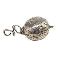 Very Rare Silver Locket Charles 2nd Circa 1670