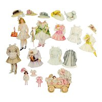 Vintage Lettie Lane paper Doll and Costumes