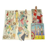 Large Group of Paper Dolls and Paper Doll Box