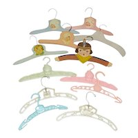 Group of Vintage Decorative Doll Clothes Hangers