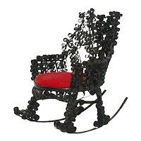 Vintage Doll Rocking Chair