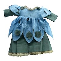 Antique Silk Doll Dress and Overdress