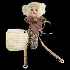 Vintage Artist Created Doll Rattle