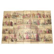 Wonderful Early  Handcolored Jigsaw Puzzle IOB